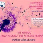Valeria Lovero de-sidera, alla ricerca del piacere perduto